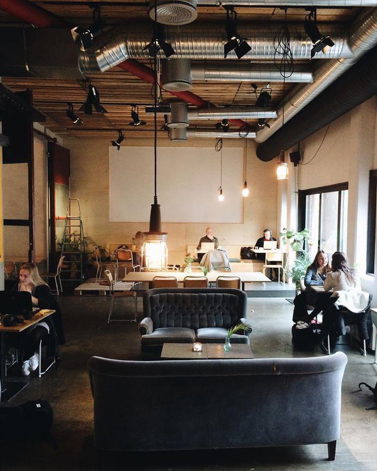 Pust, kafé i Oslo.